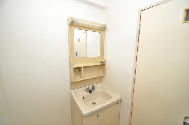 七福興産ビル 忙しい朝にあなたを手助けしてくれる素敵な洗面台。