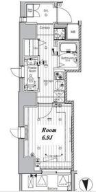 メイクスデザイン神楽坂8階Fの間取り画像