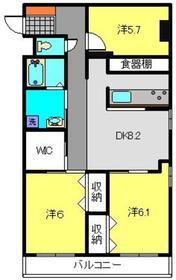 藤マンション2階Fの間取り画像