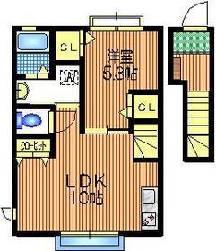 下北沢テラス2階Fの間取り画像
