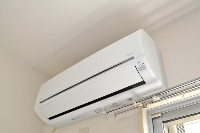 コルナス八戸ノ里 エアコンが最初からついているなんて、本当にうれしい限りです。