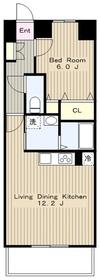 アルバータ74階Fの間取り画像