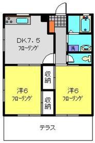 セリアンⅡ1階Fの間取り画像
