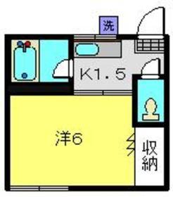 フラッツK1階Fの間取り画像
