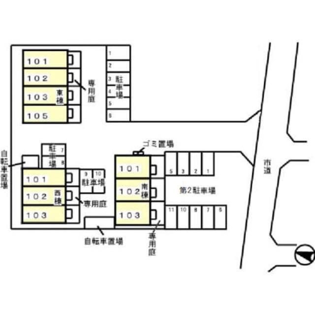 パティオス薬園台 東配置図