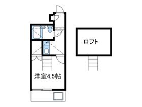本厚木駅 バス13分「睦合東中学校入口」徒歩3分2階Fの間取り画像