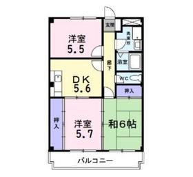 シルベール4階Fの間取り画像