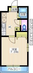 シェモア横浜2階Fの間取り画像