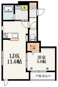 (仮称)志村2丁目メゾン2階Fの間取り画像