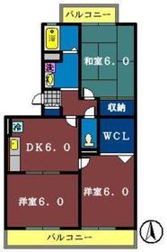 ハイローズ船橋弐番館2階Fの間取り画像
