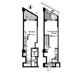 ベルファース三宿2階Fの間取り画像
