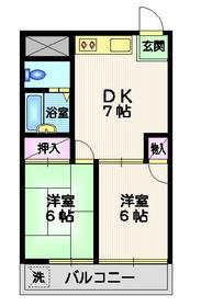 松原駅 徒歩1分2階Fの間取り画像