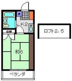 グレースハイツⅠ2階Fの間取り画像