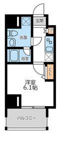 プライマル横濱平沼橋4階Fの間取り画像