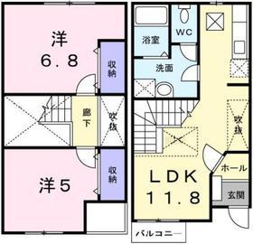 スイートパレスK・S A棟1階Fの間取り画像