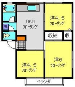 ハイツマルカ2階Fの間取り画像