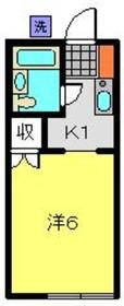 SUNNY WING1階Fの間取り画像