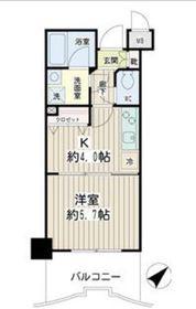 エクセル東神奈川6階Fの間取り画像