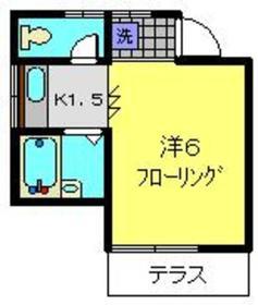 ソアーズ横浜1階Fの間取り画像