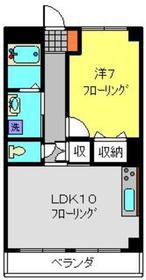 ノーブルパレスK3階Fの間取り画像