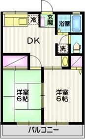 シティハイム トリオ22階Fの間取り画像