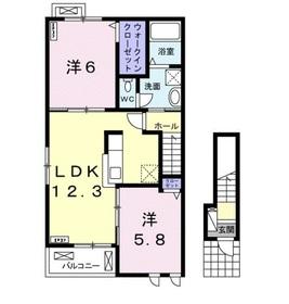 ラ・フレーズ D2階Fの間取り画像
