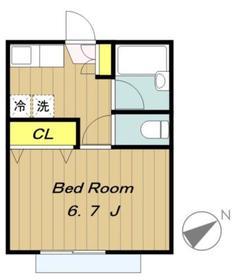 SAKURAレジデンス1階Fの間取り画像