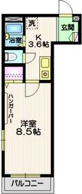 恵比寿ガーデンメゾン2階Fの間取り画像