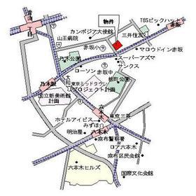 パークルージュ赤坂檜町案内図