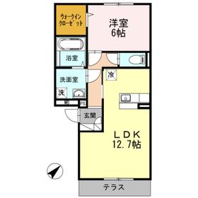 カンブリアガーデン2階Fの間取り画像
