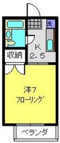 メゾンサンク1階Fの間取り画像