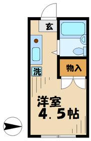 南野ハイツE棟2階Fの間取り画像