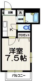 シャルマンホリカワ3階Fの間取り画像