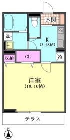 アンソレイユ 102号室