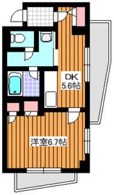 ハイグレード椿1階Fの間取り画像