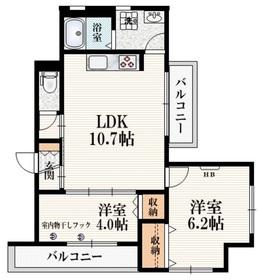 (仮称)柴崎町5丁目Iマンション3階Fの間取り画像