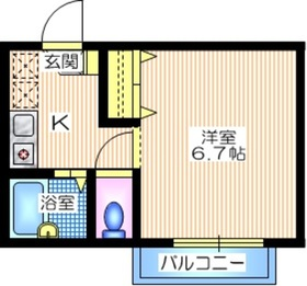 リバーサイド大岡2階Fの間取り画像