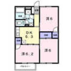 ピースフルハウス2階Fの間取り画像