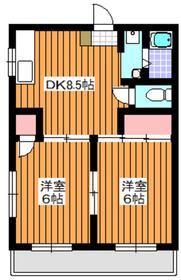 下赤塚駅 徒歩10分4階Fの間取り画像