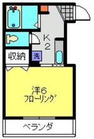 ルシダ・元住2階Fの間取り画像