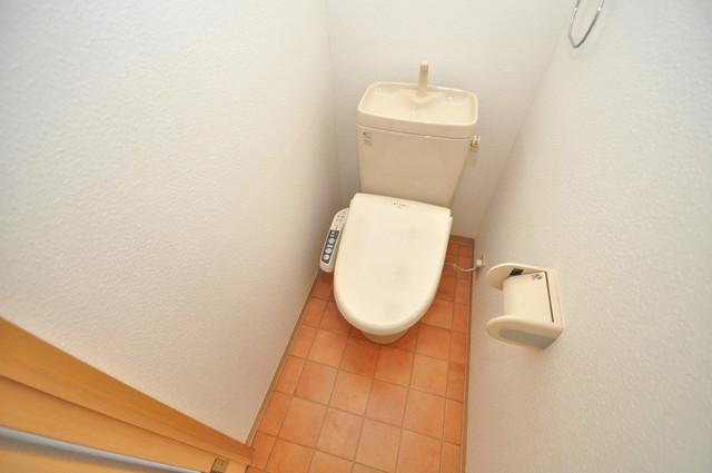ロータリーマンション長田東 清潔感たっぷりのトイレです。入るとホッとする、そんな空間。