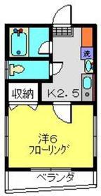 ラ・ステラ星川2階Fの間取り画像