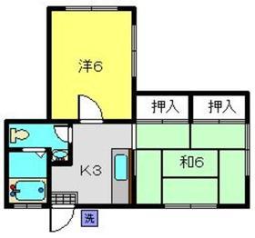 山口ホーム矢部1階Fの間取り画像