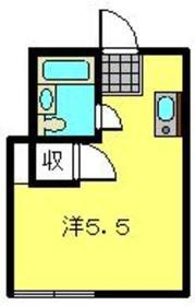 鶴見トミーハウス2階Fの間取り画像