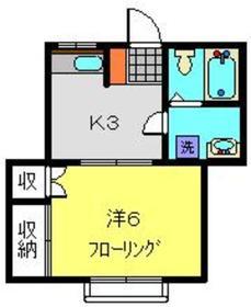 野本ハイツ2階Fの間取り画像