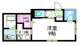 ランダーズ コテージ4階Fの間取り画像