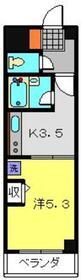コスモコート3階Fの間取り画像