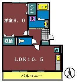 グランド・ソレーユ2(大和田新田)2階Fの間取り画像