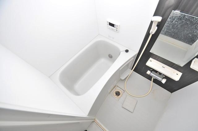アキラ大阪 ちょうどいいサイズのお風呂です。お掃除も楽にできますよ。