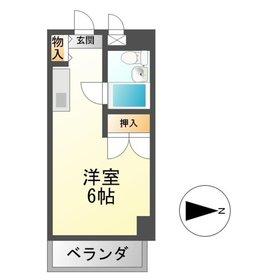 TOMBOY5階Fの間取り画像